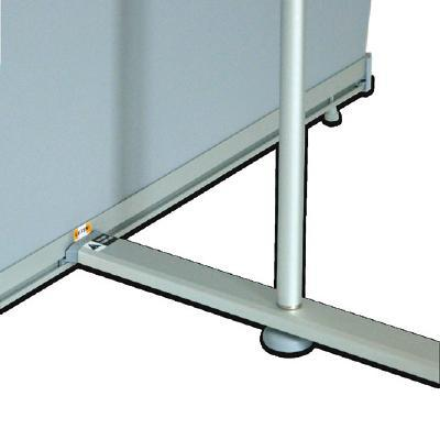 BANNER DISPLAYS WEST (double-sided) Tension Banner Display Clamp rails make for easy graphic changes in the