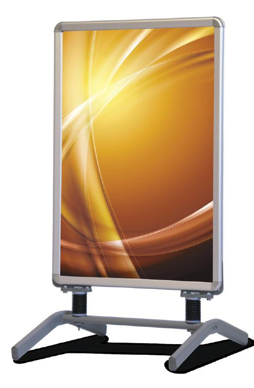 double-sided outdoor display frame.
