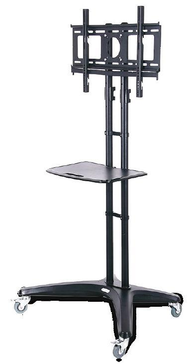 Heavy duty locking casters provide excellent maneuverability and the removable shelf also has height