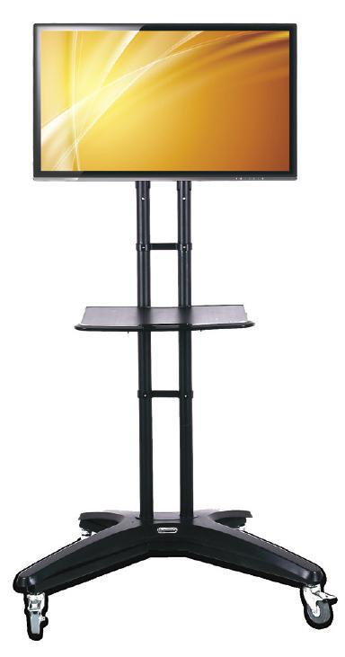 "Featuring a built-in safety lock, it accommodates screen sizes of 36"" to 55"" weighing up to 77lbs."