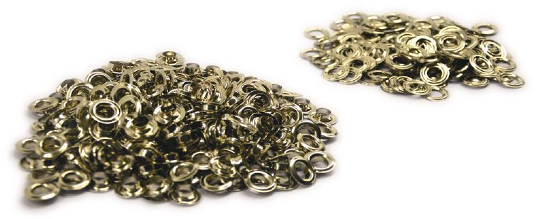 Non-rust brass grommets are available in brass or nickel
