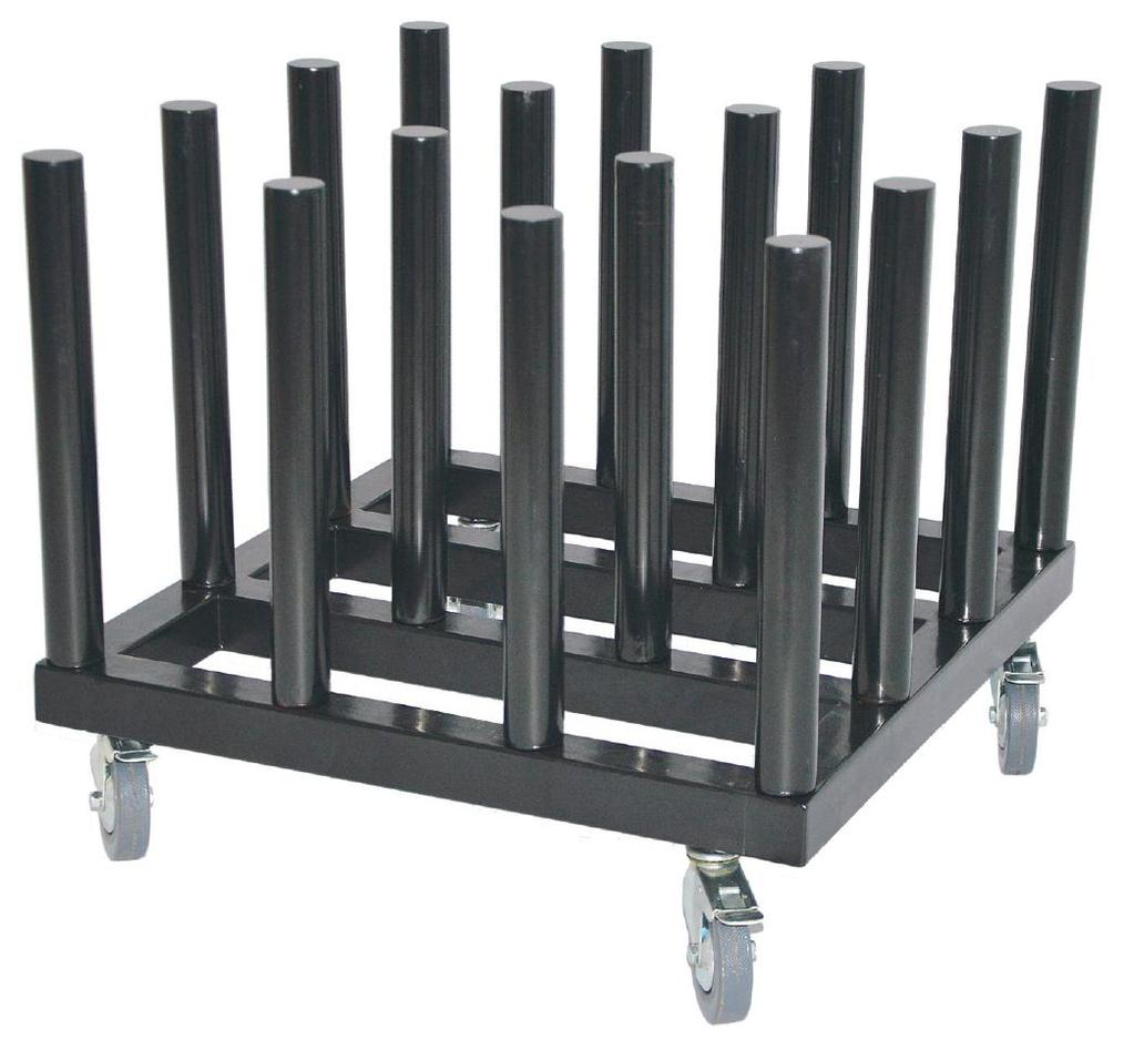 CAPTAIN Series Media Rack ACCESSORIES The CAPTAIN Rolling media rack is designed to hold 16 rolls of media.