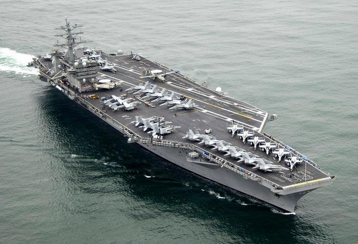 the limited parking available aboard aircraft carriers.