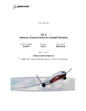 aircraft operating into lesser-coded airports, and will refer to manufacturers ACAP documentation 777X ACAP contains