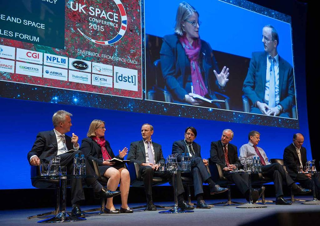 THE audience UK Space Conference 2015 key figures 1,055 Participants 500 Dinner guests 105 Exhibitors 21 Sponsors Who should attend?