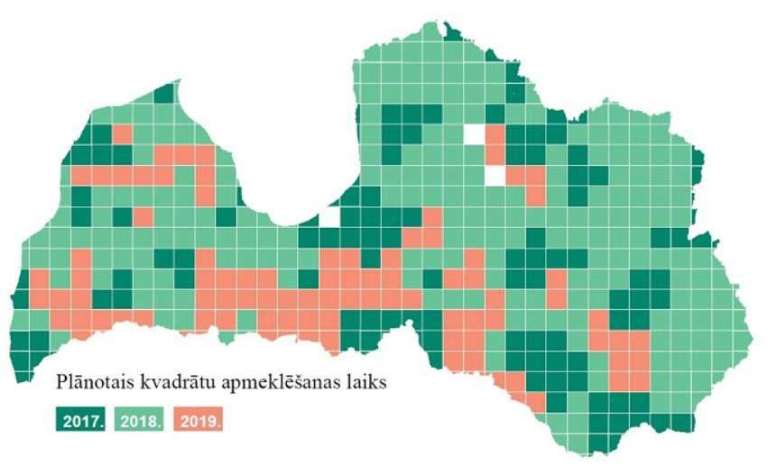 Related projects Nature Census (Dabas skaitīšana), 2016-2020, EU Cohesion Fund inventory of EU importance habitats (Habitats Directive, Annex I) in the territory of Latvia 20 nature