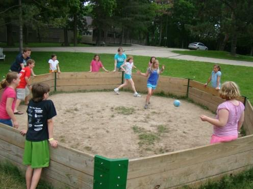 Camp Activities Camp Games & Sports Ga Ga Ball, 9 Square in the Air, Slip & Slide and more! A.B.C. s (Adventure By Choice)- Fun activities to pick and choose from.