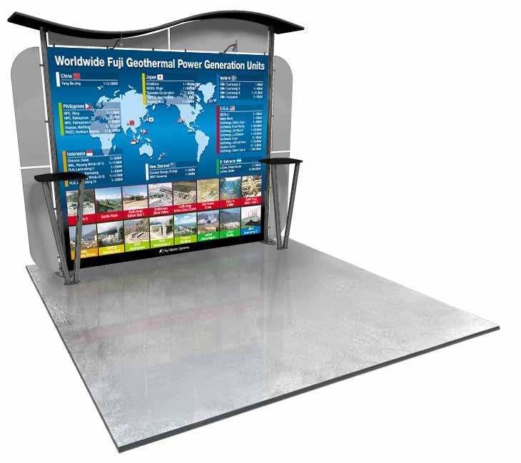 This lightweight booth can be assembled in a matter of minutes and will save you money on shipping costs.
