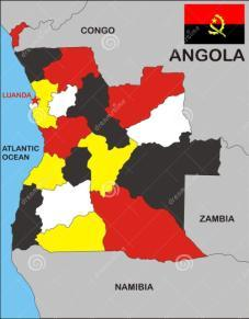 ANGOLA ANGOLA SERHAT TEZGEN 201143402 9 ANGOLA ANGOLA, 2014 Angola has a population of 24,383,301 is a country in Southern Africa is bordered by Namibia to the south, the Democratic Republic of the