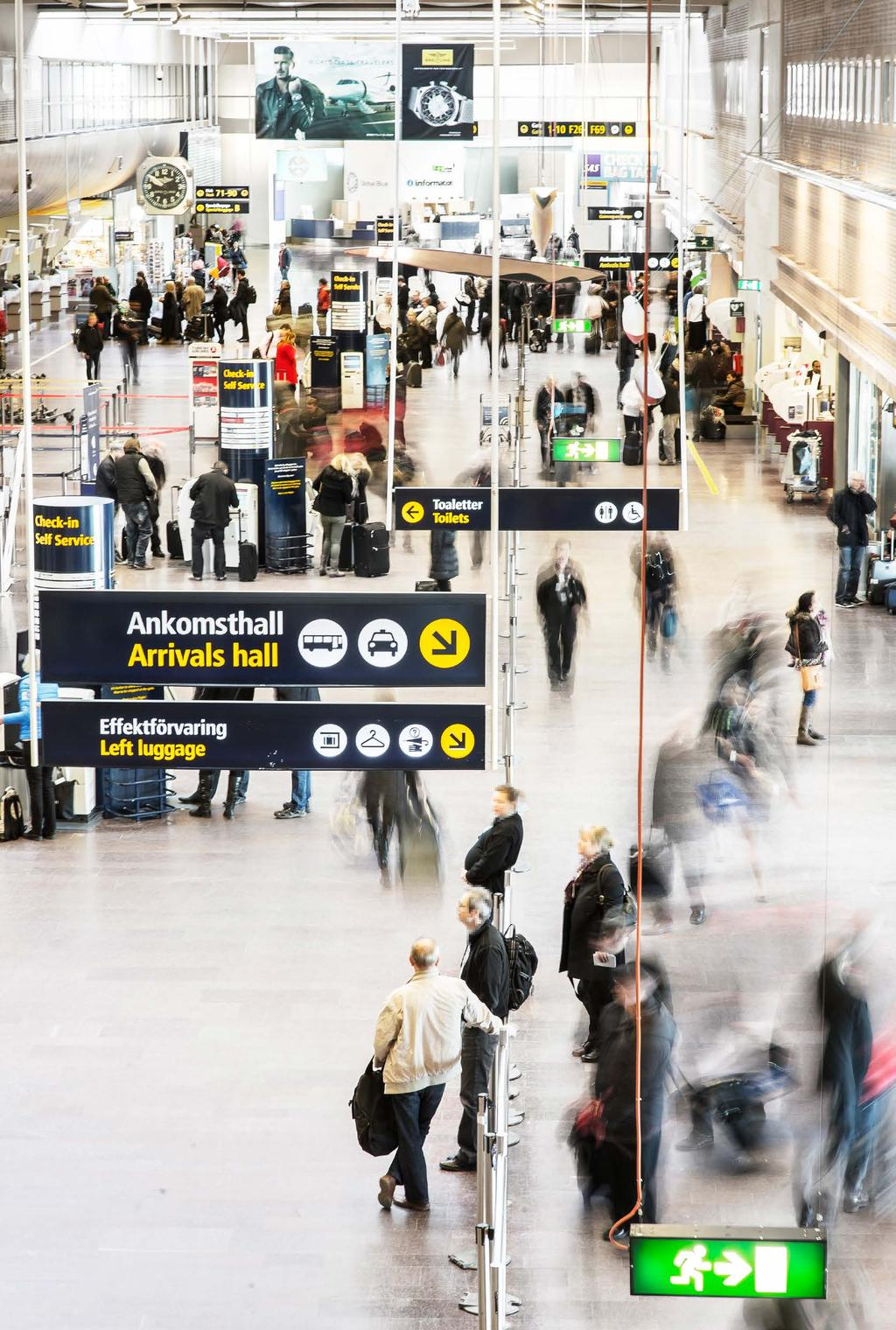Airport Advertising Airports are positively charged environments that signal exclusivity, excitement and expectations, and the majority of the travelers are receptive to change and belongs to a