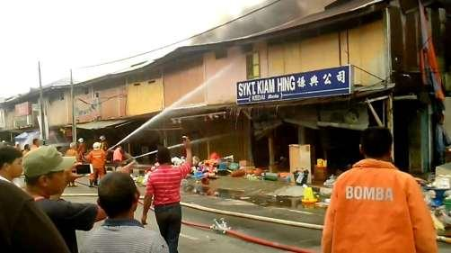 total of 17 shops were levelled to the ground by the fire.