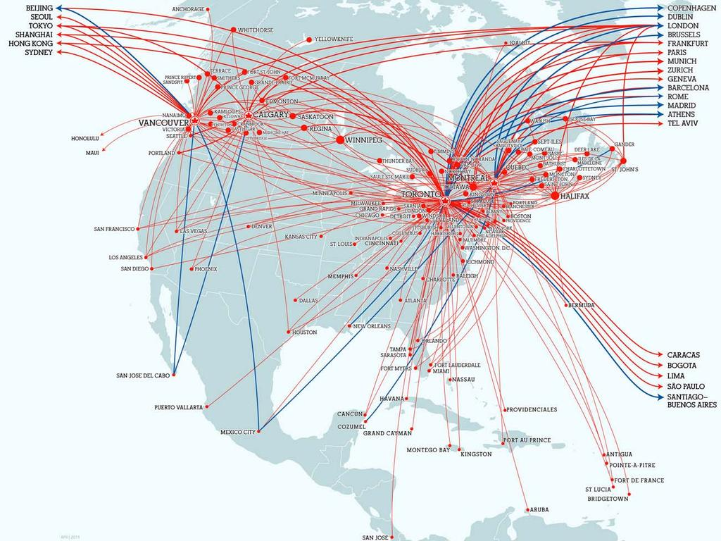 Extensive Global Network Star Alliance Membership and Joint Venture Enhance Market Presence Air Canada Routes 178 Direct Destinations: 59