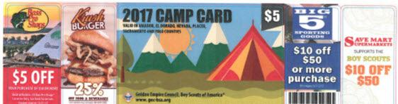 The Camp Master s Camp Card sale responsibilities are to manage all aspects of the sale and clearly communicate information about the sale and camping