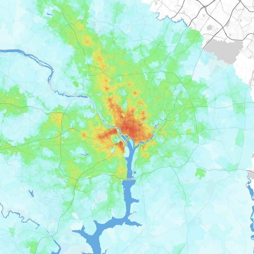Washington Washington-Arlington-Alexandria, DC-VA-MD-WV Jobs within 30 minutes by transit, averaged 7 9 AM 0 1,000 1,000 2,500 2,500 5,000 5,000