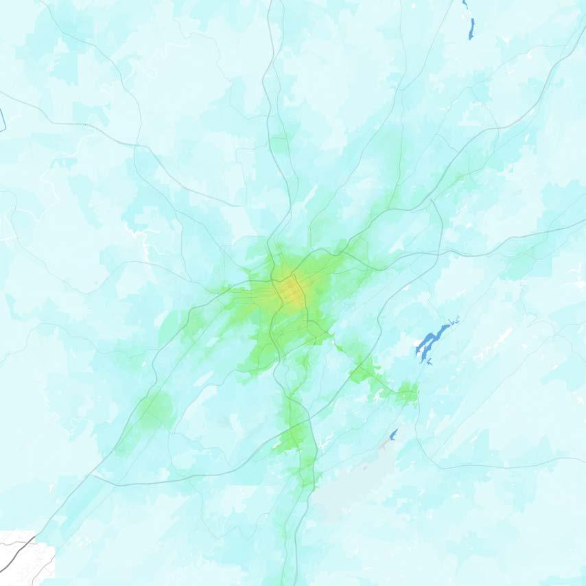 Birmingham Birmingham-Hoover, AL Jobs within 30 minutes by transit, averaged 7 9 AM 0 1,000 1,000 2,500 2,500 5,000 5,000 7,500 7,500