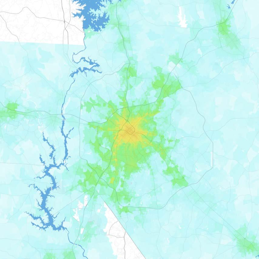 Charlotte Charlotte-Gastonia-Rock Hill, NC-SC Jobs within 30 minutes by transit, averaged 7 9 AM 0 1,000 1,000 2,500 2,500 5,000 5,000 7,500