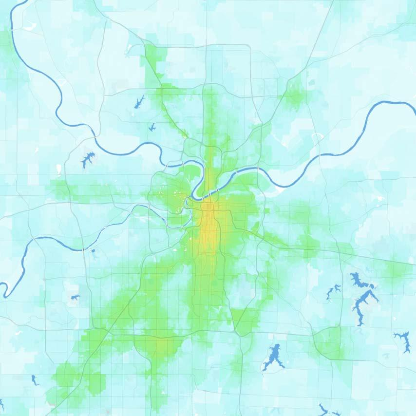 Kansas City Kansas City, MO-KS Jobs within 30 minutes by transit, averaged 7 9 AM 0 1,000 1,000 2,500 2,500 5,000 5,000 7,500 7,500