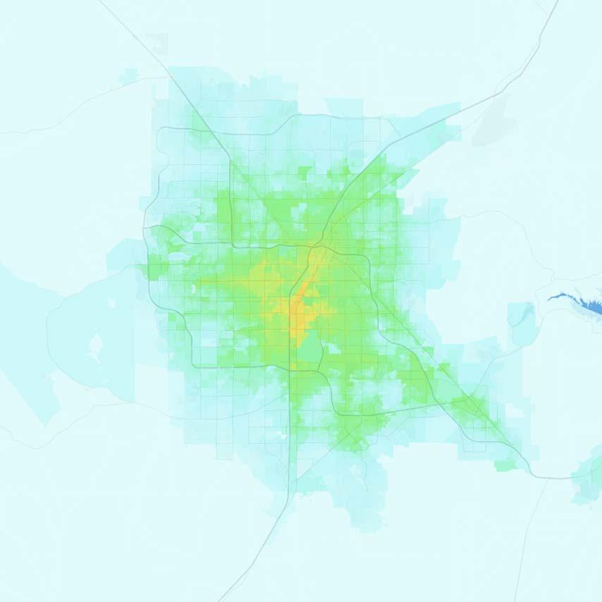 Las Vegas Las Vegas-Paradise, NV Jobs within 30 minutes by transit, averaged 7 9 AM 0 1,000 1,000 2,500 2,500 5,000 5,000 7,500 7,500