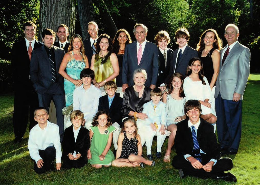 Bryan family photograph taken on the east lawn of the main house at Crab Tree Farm on August 24, 2008, on the occasion of Neville Frierson and John Henry Bryan s fiftieth wedding anniversary: