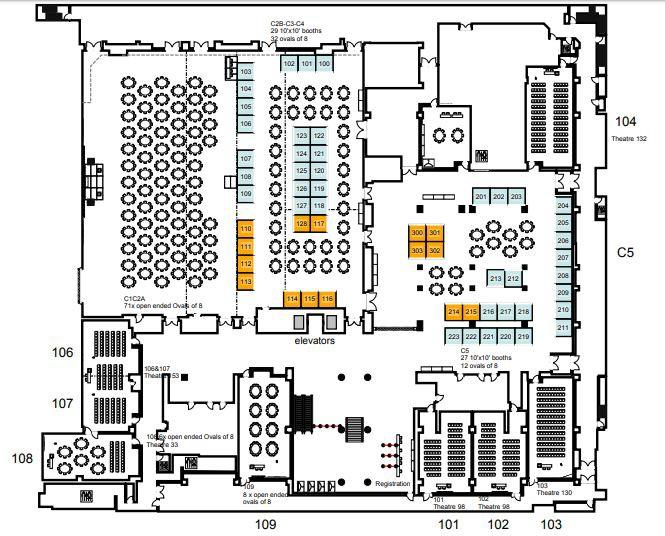 EXHIBIT HALL FLOOR PLAN Bookings are completed via the interactive floor plan on the