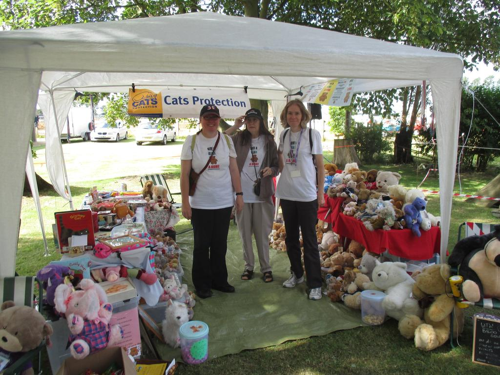 We had two stalls, one showing what we do on an event, and team member Bev had her Give A Bear A Home stall.