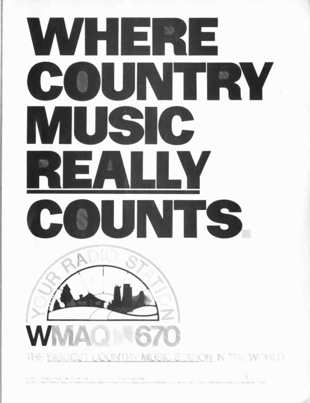 WHERE COUNTRY MUSC REALLY COUNTS WMAQh67O THE