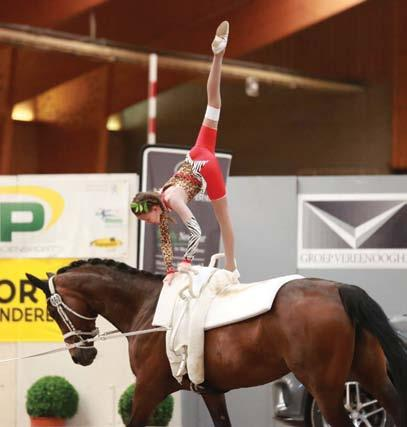 Horse - E - News Sheleph Burger Erin Muller (of Mooikloof Equestrian Estate) and Asea Pozniakow of Riba Stables Vaulting Club in Kyalami have taken this sport in their stride and recently competed