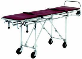 "Ferno Model 27-1 First Call Mortuary Cot All four wheels swivel The folding end section shortens the cot by 15"" (3 cm) The cot's head section is tapered Very maneuverable in close quarters and narrow"