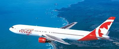 767s) is estimated to generate 25% lower CASM when compared to the same aircraft in the mainline fleet Air Canada rouge leverages the