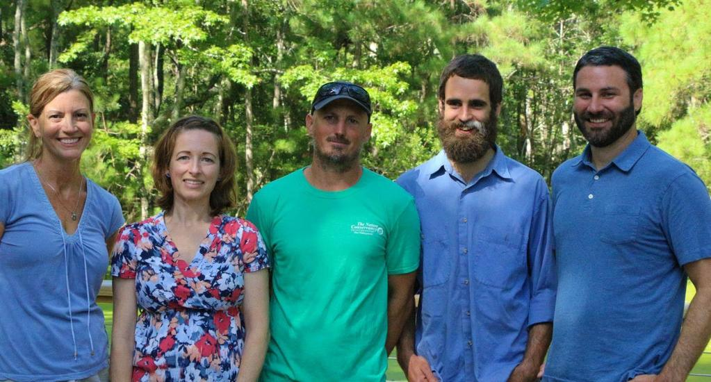 Staff Pictured from left: Jennifer Gilbreath, Conservation Coordinator, Lora Eddy, Coastal Engagement Coordinator, Aaron McCall, Northeast