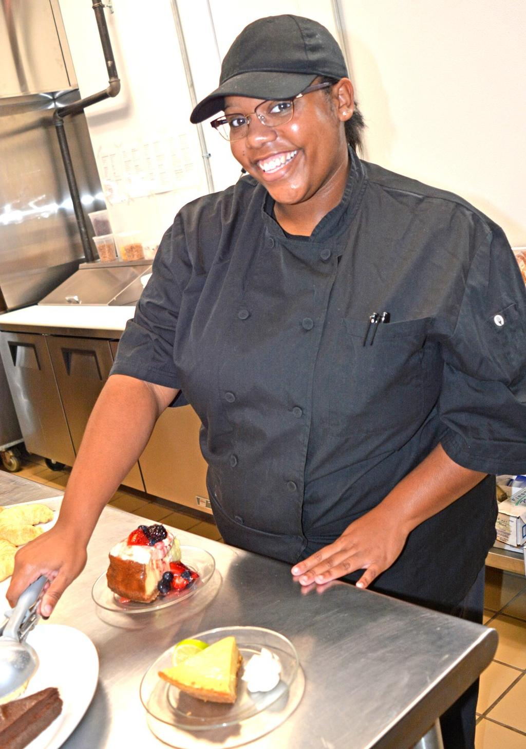 Meet Our Lake Pastry Chef Yep, We Have One! By Melissa Davis Jonnay Grooms technically started preparing for her career as a pastry chef before she could even read a recipe.
