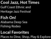 SUMMER 2013 Cool Jazz, Hot Times Gulf Coast Ethnic and Heritage Jazz Festival Fish