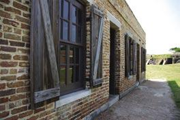At Fort Gaines, visitors can tour the well-preserved ramparts, observe reenactments of the battles, hike or bike along the pathways, or just enjoy the panoramic views of Gulf of Mexico and Mobile Bay.