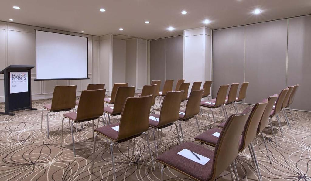 FREMANTLE II Features Capacity 71 square metres of flexible event space State-of-the-art A/V Video conferencing facilities Free Wi-Fi Neutral tones to theme the way you like