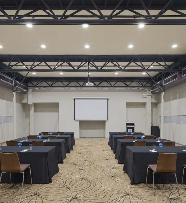 SUBIACO ROOM Features 129 square metres of flexible event space State-of-the-art A/V