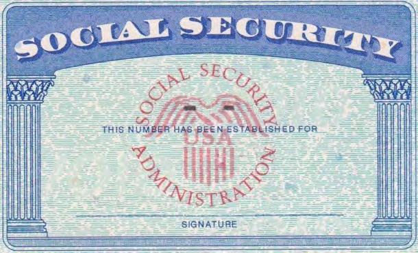 necessary that you bring your Social Security Card St.