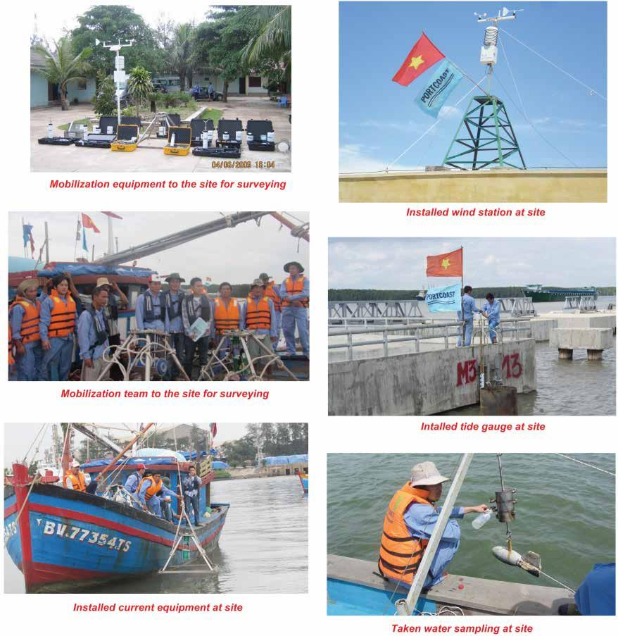 Typical s Of Hydrological Survey No. 21 22 23 24 name Place Clients Duration Bathymetric survey for product export jetties and material import jetties for Refinery No.
