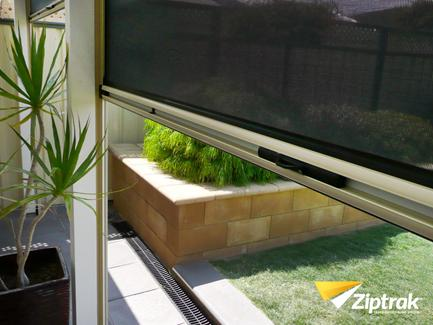 ZIPTRAK Spring operated channel guide* Ziptrak blinds are the trusted solution for blocking wind, rain, sun, dust, insects, glare and providing privacy.