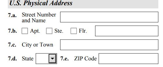 Complete the Form I-765 #6: Answer Yes or No regarding whether or not your mailing address is the same as your