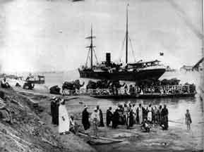 The Suez Canal Company was established in 1854 by the Frenchman Ferdinand de Lesseps to dig a canal that would link the Mediterranean Sea to the Indian Ocean.