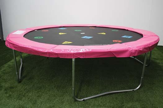 Your trampoline will now look similar to the picture with attached