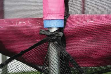 to be to the left or right side of the safety nets opening.