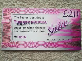 award winning Shalims Balti House in Weymouth, these vouchers will