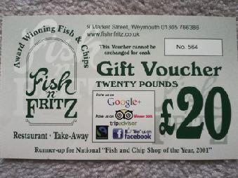 This item is for a 20 voucher off your choice from the menu. Gluten free and vegetarian menu options available. Kindly donated by Fish n Fritz http://www.