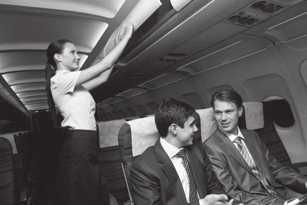 She also has to make sure the passengers feel comfortable throughout 4 the flight.