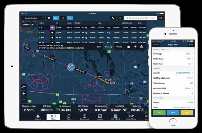 Expanded Canadian Filing in ForeFlight File IFR flights to and from the US and within Canada, Caribbean, Bahamas, and Mexico using the ICAO flight plan format.