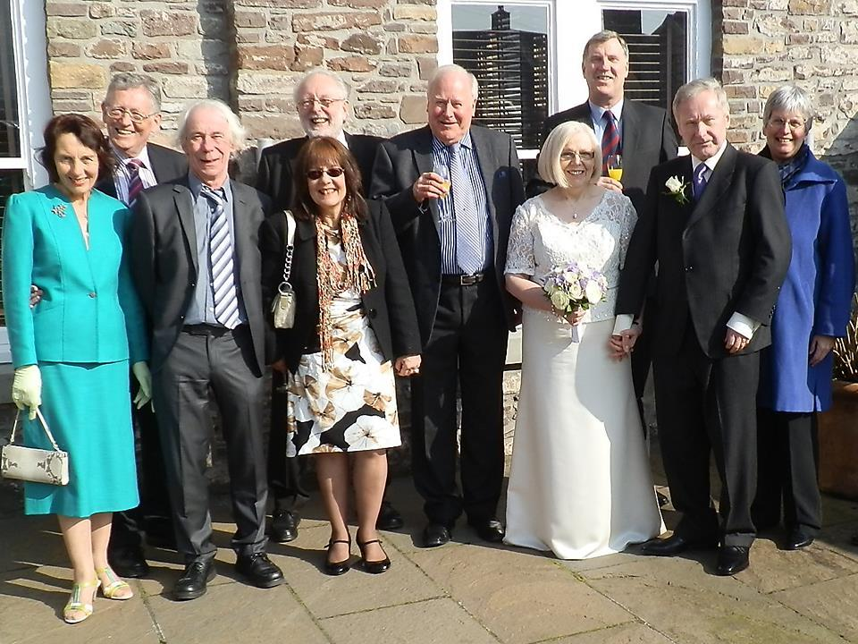 Barbara and John Keeley GW6RAV celebrated the blessing of their marriage on Saturday 2 nd March in Abergavenny.