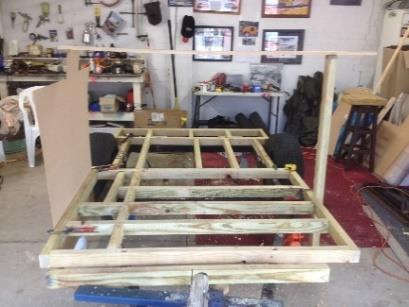 as low as possible, next was the frame for the floor the