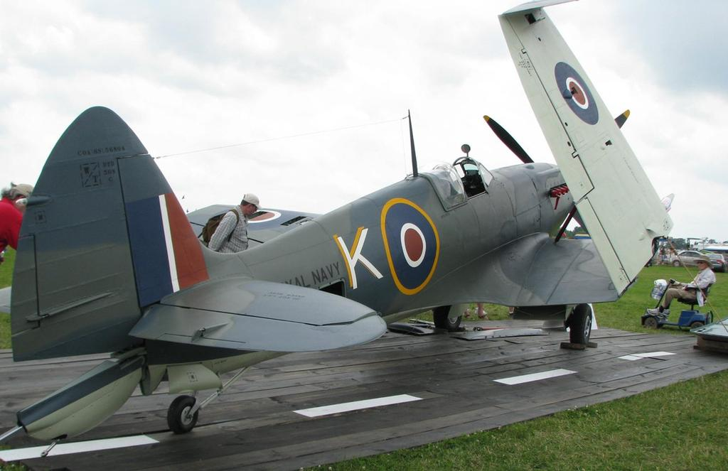 A very rare Supermarine Seafire, the carrier based version of the Spitfire, at AirVenture COPPERSTATE JUST TWO MONTHS AWAY Chapter 1217, spearheaded by Copperstate Fly-In Aeromart Chairman, Dan