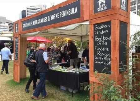 As members of Southern Flinders Tourism n Tastes, Laura Information Centre was able to place our Laura brochures in the pop-up stall at Tasting Australia from May 1 to 8.